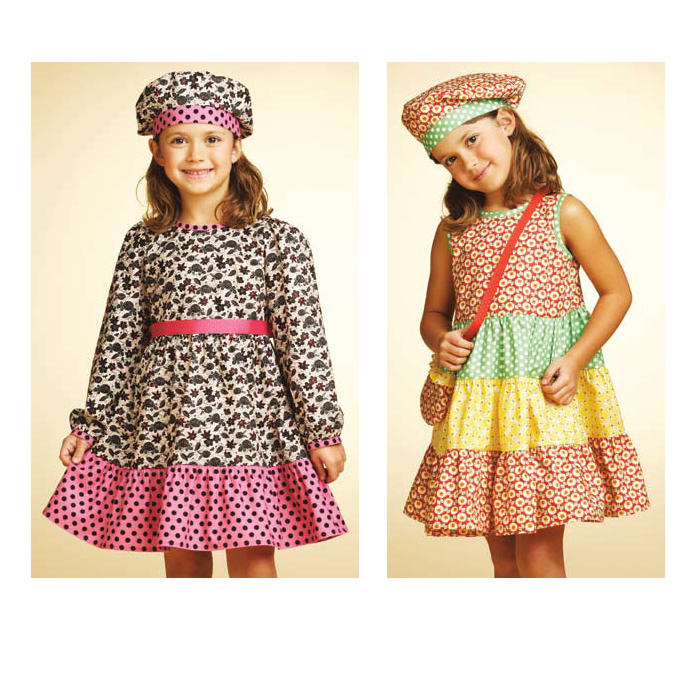 Kwik Sew Girls' Dresses Hat & Bag Pattern