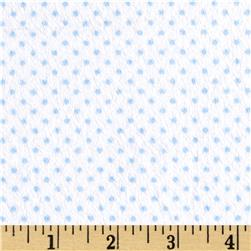 Minky Cuddle Classic Pin Dot Snow/Sky Fabric