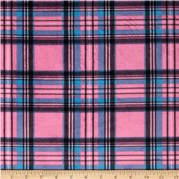 Minky Classic Plaid Pink/Blue Fabric