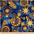 Star Gazing Metallic Celestial Navy/Gold