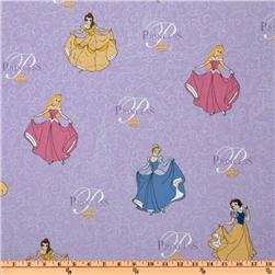 Disney Princess All Over Purple Fabric