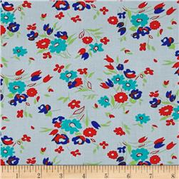 Dixie Small Floral Grey