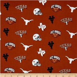 Collegiate Cotton Broadcloth University of Texas Fabric