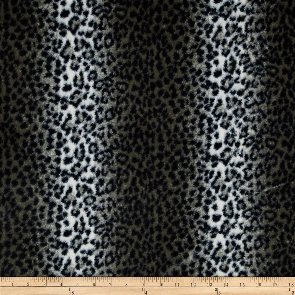 Luxury Minky Cuddle Cheetah Grey