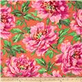 Kaffe Fassett Collective Volcano Tree Peony Orange