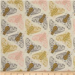 Cotton+Steel Magic Forest Bees Yellow