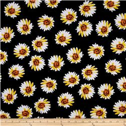 Daisy Jersey Knit Black