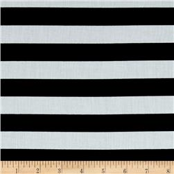 Stripe Cotton Voile Black/White