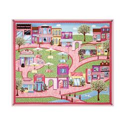 "Shopping Spree 35"" Panel Pink"