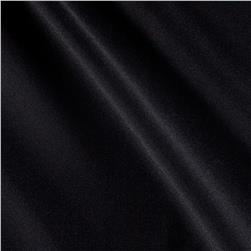 Italian Designer Stretch Silk Crepe de Chine Black