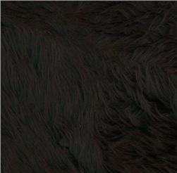 Faux Fur Luxury Shag Black Fabric