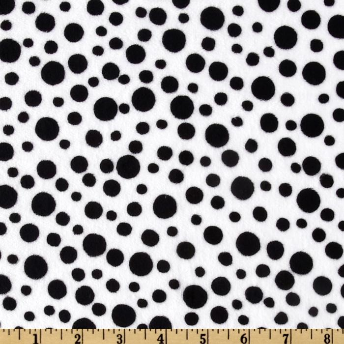Minky Cuddle Dot White/Black