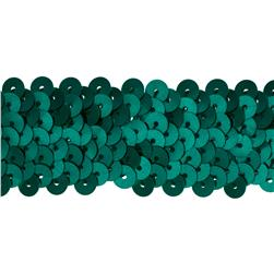 "1 1/4"" Metallic Stretch Sequin Trim Teal"