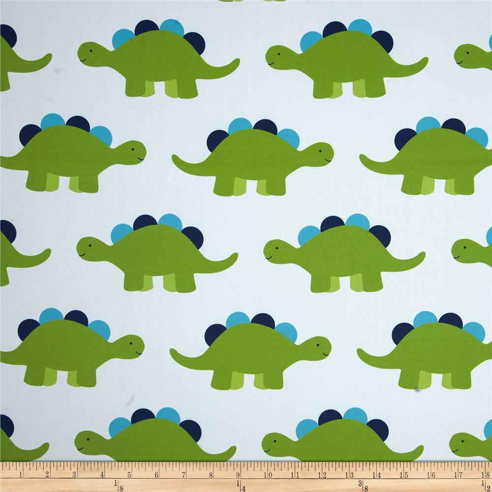 Rca dinosaur blackout drapery fabric green discount for Dinosaur fabric