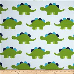 RCA Dinosaur Blackout Drapery Fabric Green