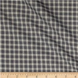 Kaufman Shimmer Yarn Dye Metallic Plaid Shirting Charcoal