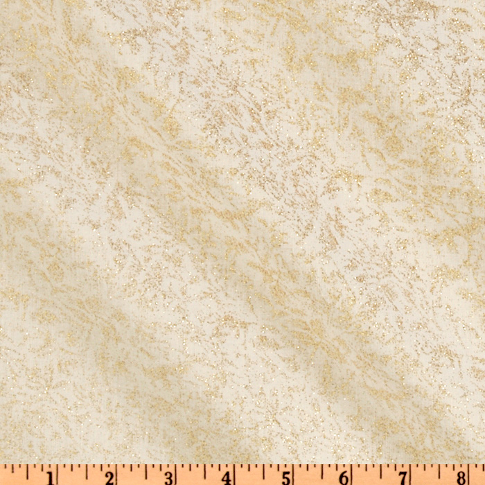 Michael Miller Fairy Frost Glitz Bling White Fabric