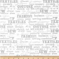 Sewing Studio Sewing Terms Grey