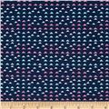 Laugh Love Quilt Small Triangles Navy