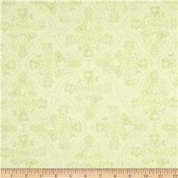 Paris Forever Floral Grid Toile Green