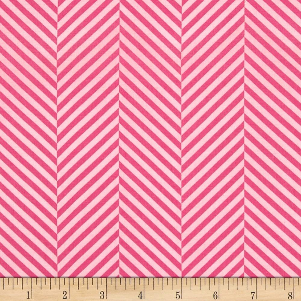 Moda Dot .Dot.Dash-! Stripe In A Stripe Pink