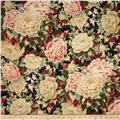 Kaufman Imperial Collection Metallic Large Flowers Vintage