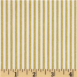 Riley Blake Gold Sparkle Stripe Gold