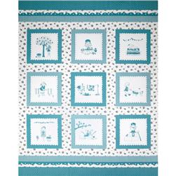 Riley Blake The Simple Life Simple Panel Aqua
