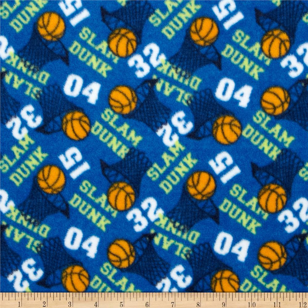 Fleece Basketballs Blue
