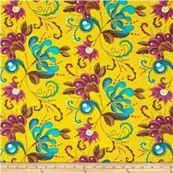 Moda Soho Chic Fancy Floral Chartreuse