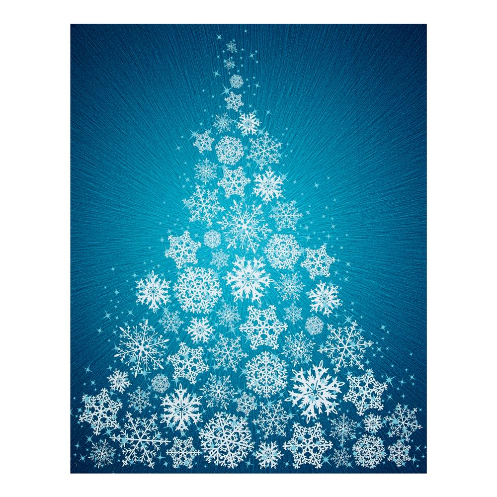 Supernova Seasons Digital Snowflake Tree 44'' Panel Turquoise Fabric