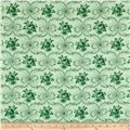 Verna Mosquera Peppermint Rose Ribbon Wreath Pine