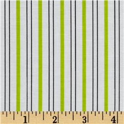 Citrus Thick & Thin Stripe Lime Fabric