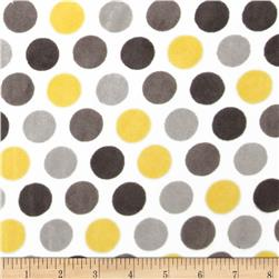 Minky Cuddle Classic Mod Dot Lemon Fabric