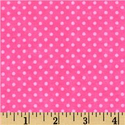 Flannel Mini Dots Tonal Fucshia