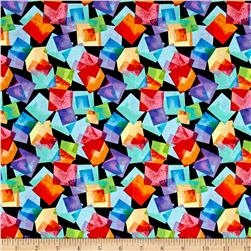 Kanvas Blocks Of Brillance Floating Squares Black/Bright