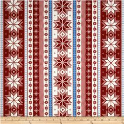 Nordica Flannel Snowflake Stripe Winter