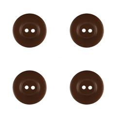 "Riley Blake Sew Together 1"" Matte Round Button Brown"