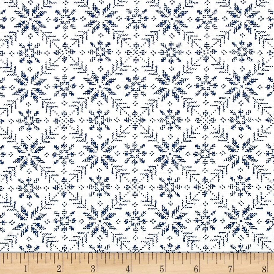 Moda Nordic Stitches Eight Leaf Rose Bla-Sno