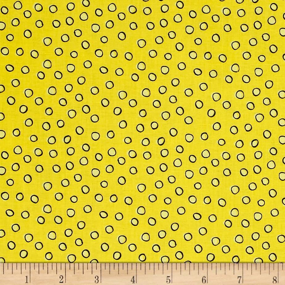We Share One World Dots Yellow