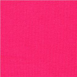 Basic Cotton Rib Knit Hot Pink