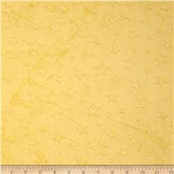 Minky Embossed Star Cuddle Banana Fabric