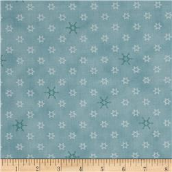 Silent Christmas Stars & Snowflakes Blue
