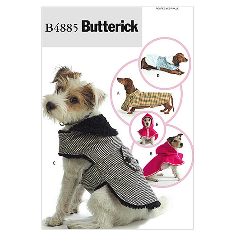 Butterick Dog Coats Pattern B4885 Size OSZ
