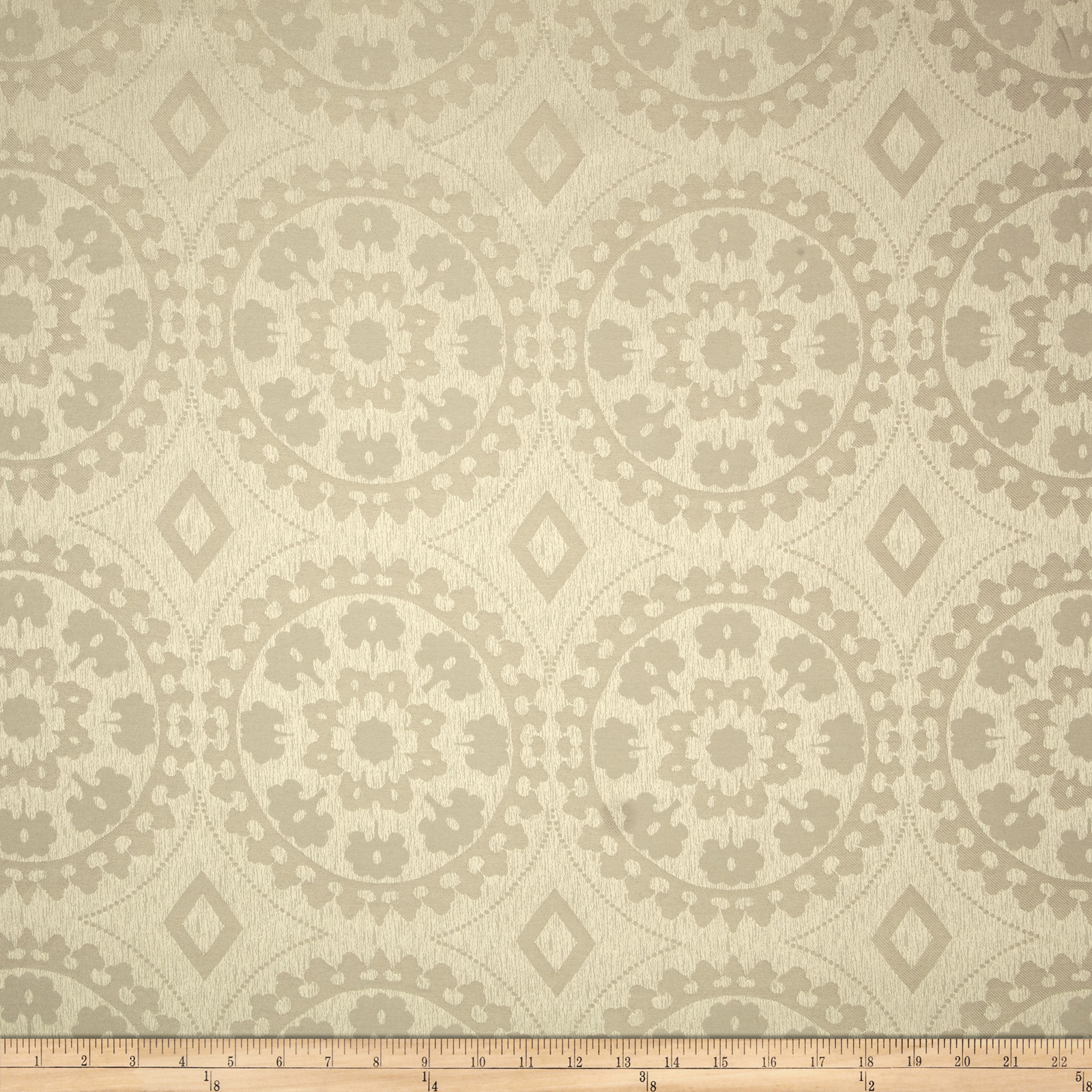 Eroica Venetian Jacquard Taupe Fabric by Eroica in USA