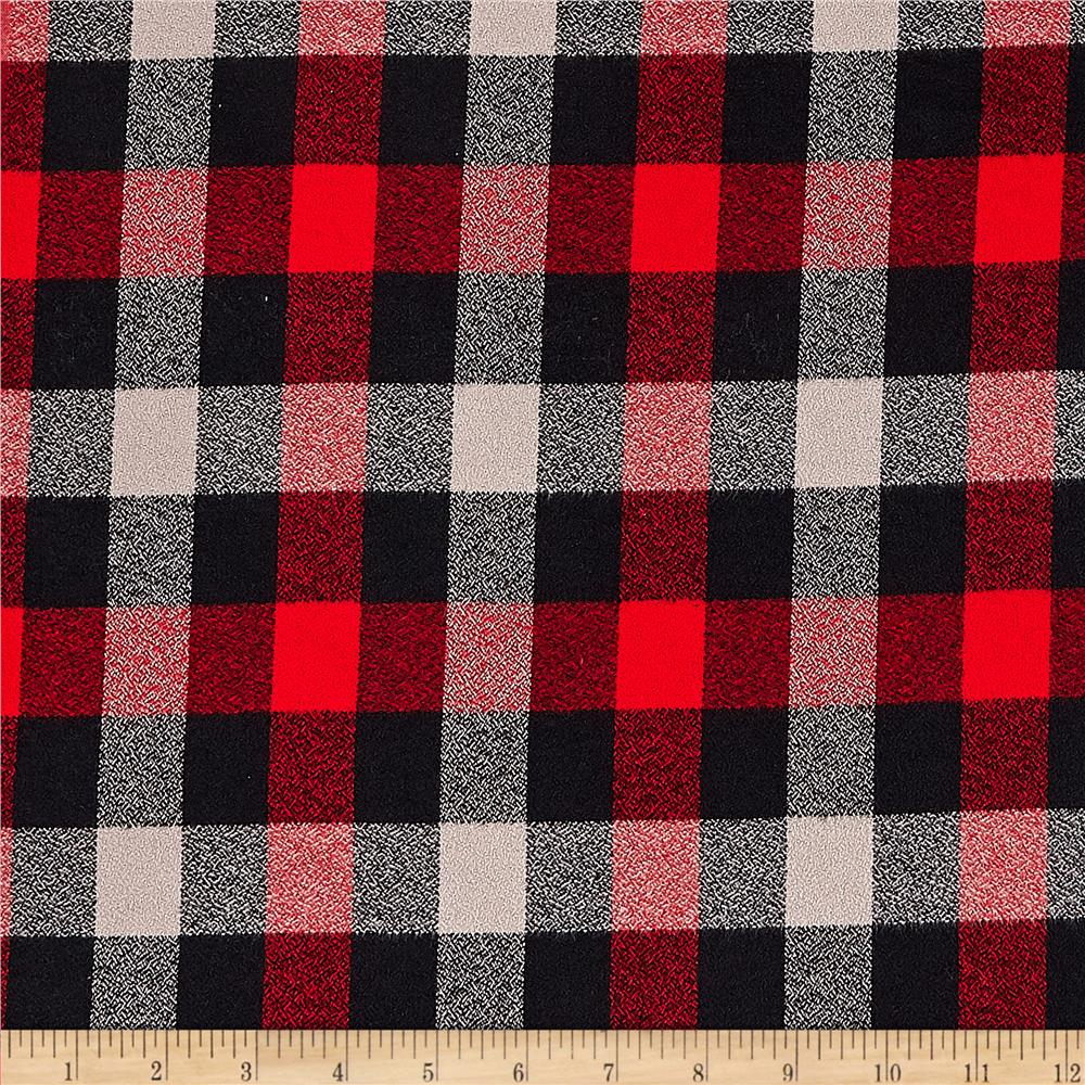 Kaufman Mammoth Flannel Plaids Red