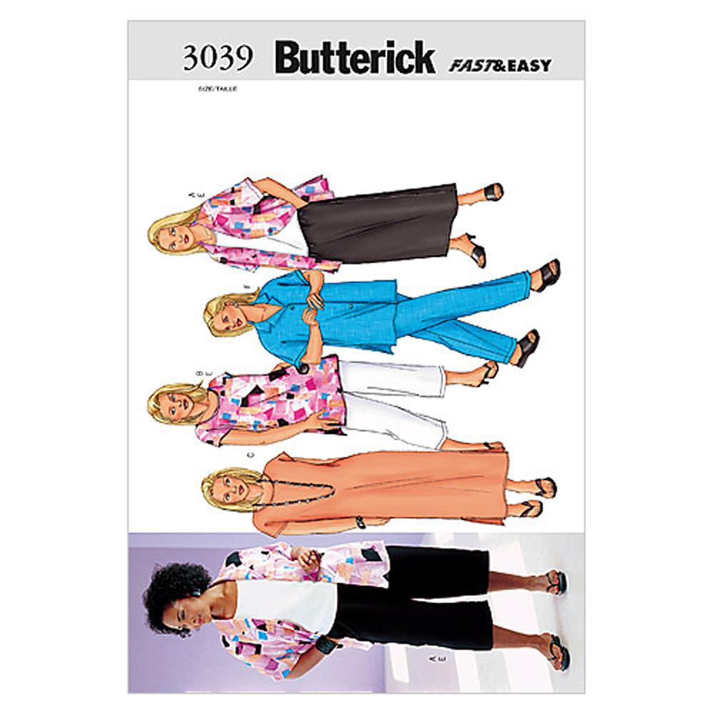 Butterick Women's/Women's Petite Shirt, Top, Tunic, Dress, Skirt & Pants Pattern B3039 Size 16W