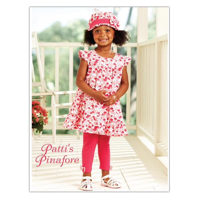 Kwik Sew Toddler Patti's Pinafore Dress, Pants, Hat (3902) Pattern