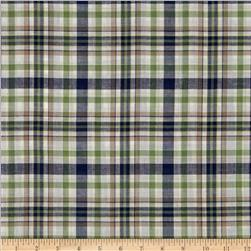 Yarn Dyed Plaid Shirting Green/Khaki/Blue