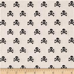 Riley Blake Military Max Skulls Gray